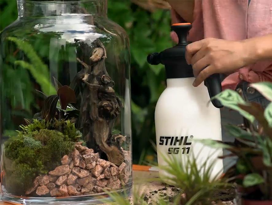 Ferramentas certas para uma floresta em miniatura