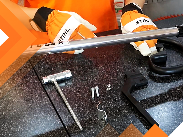 Aprenda a montar o cabo circular de uma roçadeira