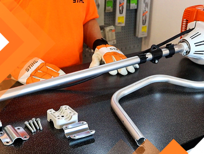 Como montar cabo bike na roçadeira