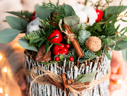 Passo a passo: arranjo criativo de Natal